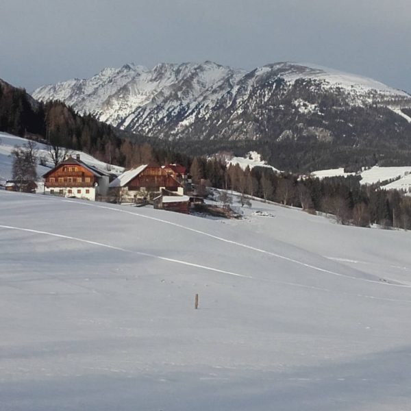 Traumhafte Winterlandschaft vorm Moserhof