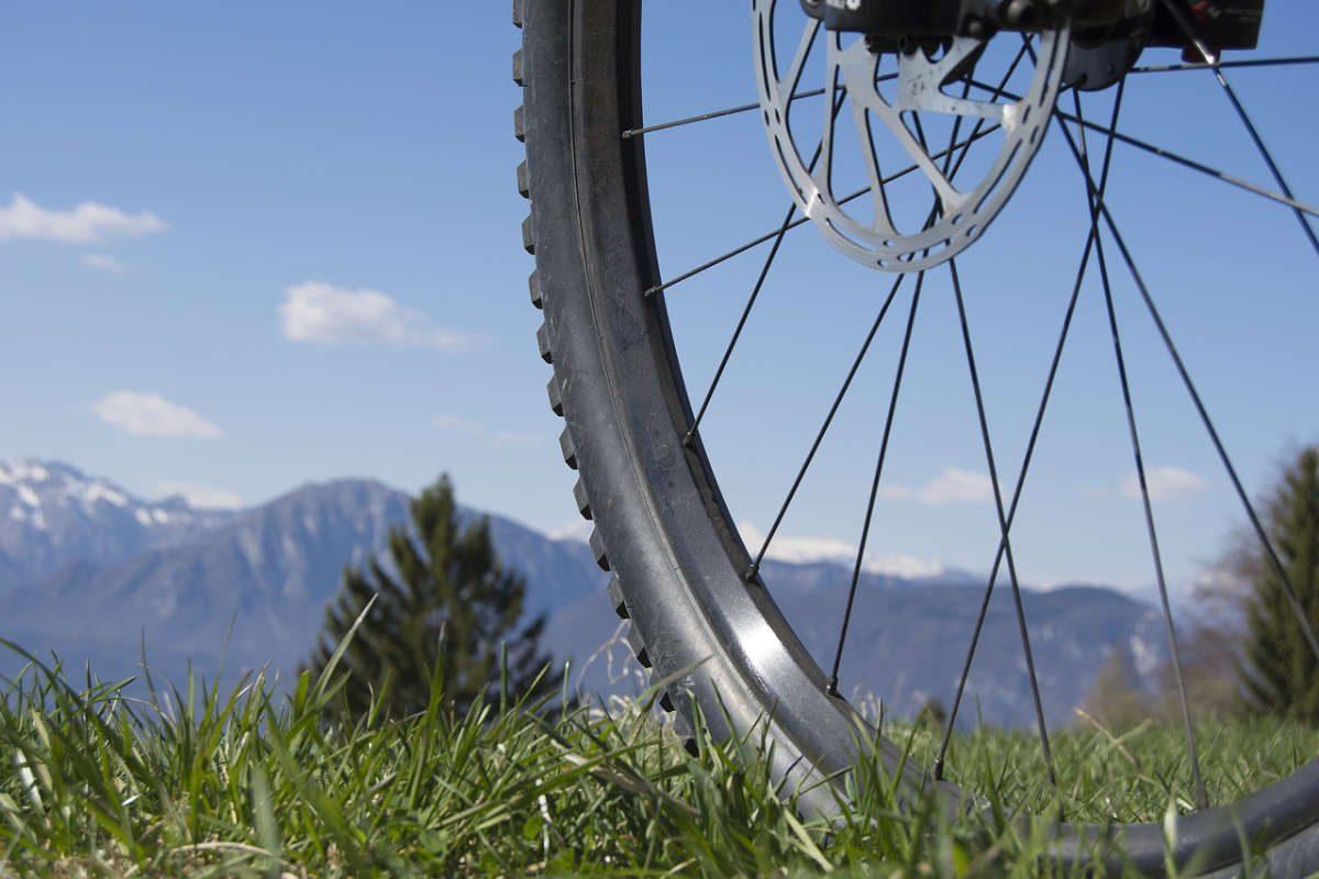 Ausblick ins Tal beim Mountainbiken